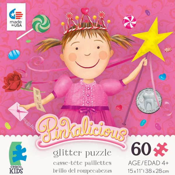 Glitter Puzzle - Pinkalicious Princess Glitter/Shimmer/Foil