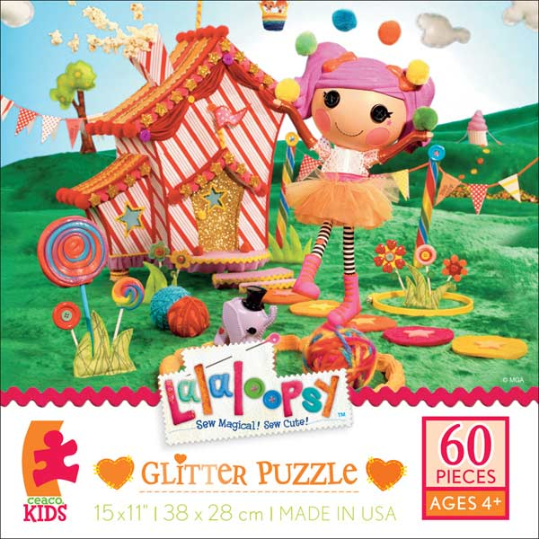 Glitter Puzzle - Peanut Big Top Cartoons Glitter / Shimmer / Foil Puzzles