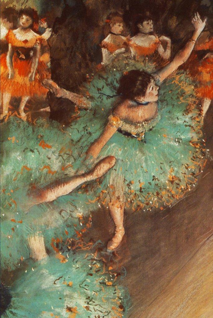 Green Dancer by Edgar Degas Fine Art