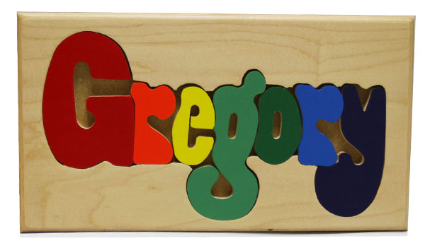 Gregory Wooden Name Puzzle