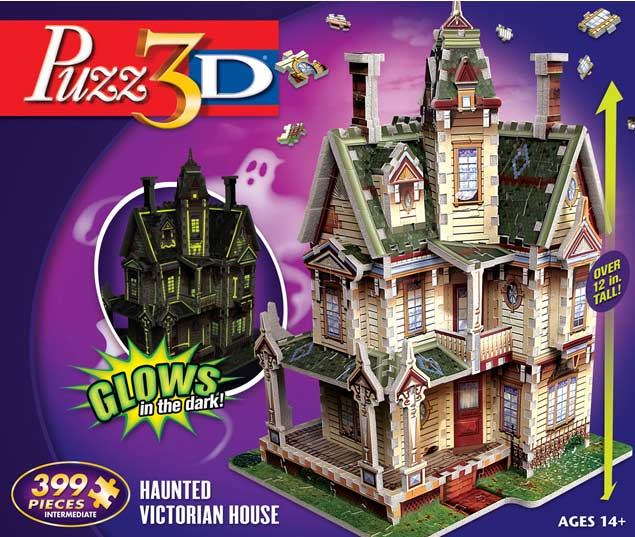 Haunted Victorian House 3d Puzzle Jigsaw Puzzle