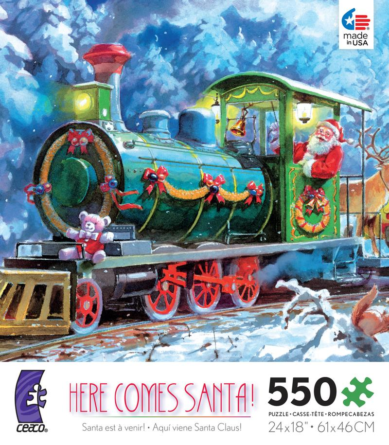 Holiday Traditions - Here Comes Santa Christmas Jigsaw Puzzle