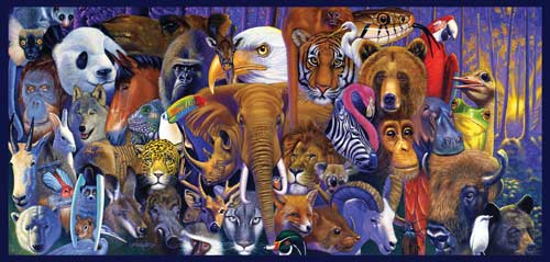 Hierarchy Jungle Animals Jigsaw Puzzle