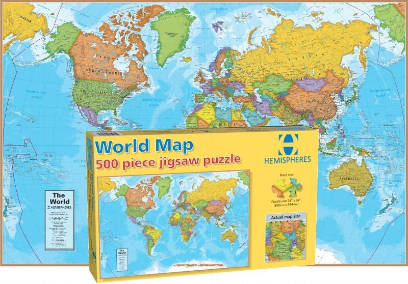 World Map Jigsaw Puzzle | PuzzleWarehouse.com
