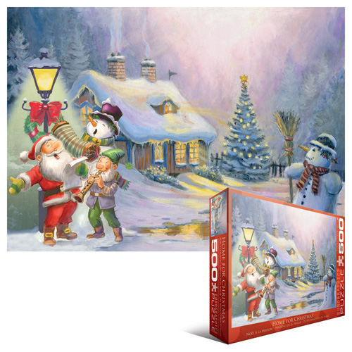 Home for Christmas Snowman Jigsaw Puzzle