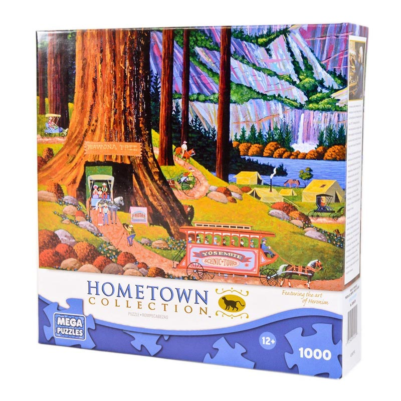 Hometown Collection - Yosemite Camping Landmarks Jigsaw Puzzle