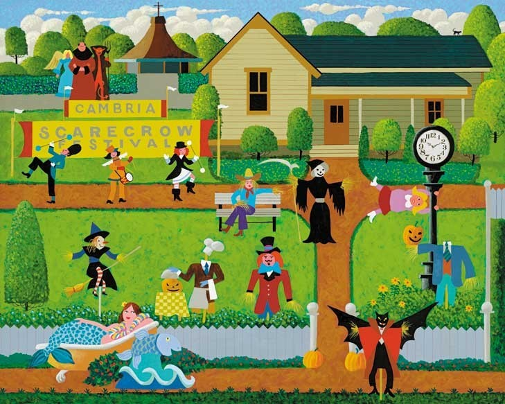 Hometown Collection - Scarecrow Festival Halloween Jigsaw Puzzle