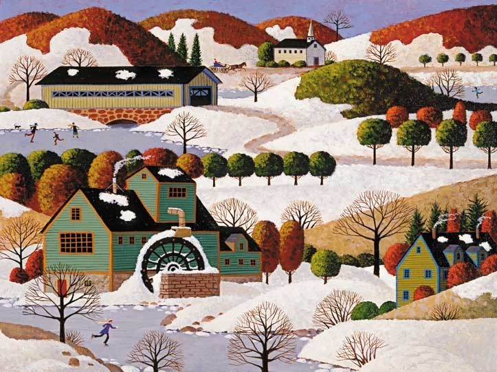 Hometown Collection - Winter in Vermont Winter Jigsaw Puzzle