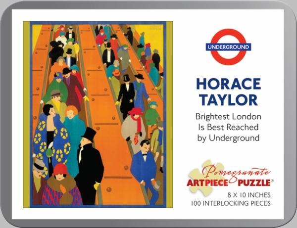Brightest London is Best Reached by Underground (Mini) People Jigsaw Puzzle
