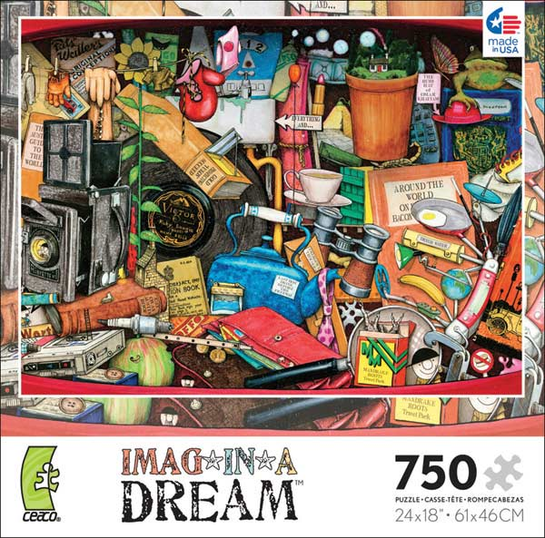 Imag-in-a-Dream - Grandad's Glovebox Everyday Objects Jigsaw Puzzle
