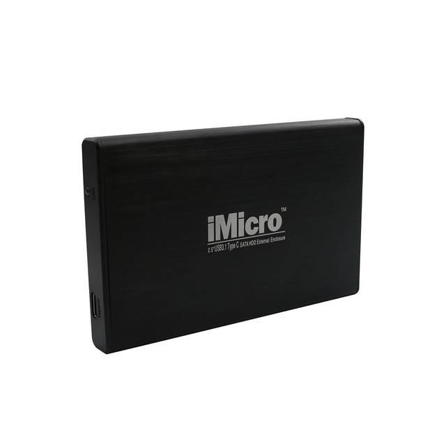 iMicro IMBSU23TC 2.5 inch SATA to USB 3.1 Type C External Hard Drive Enclosure (Black)