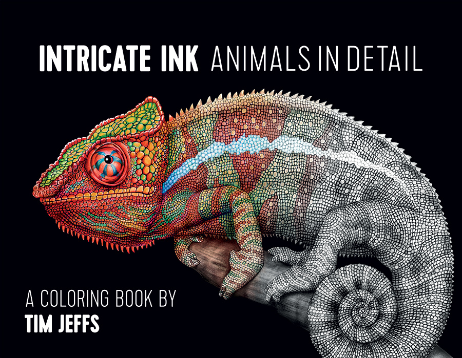 Intricate Ink Animals In Detail Coloring Book Coloring Book