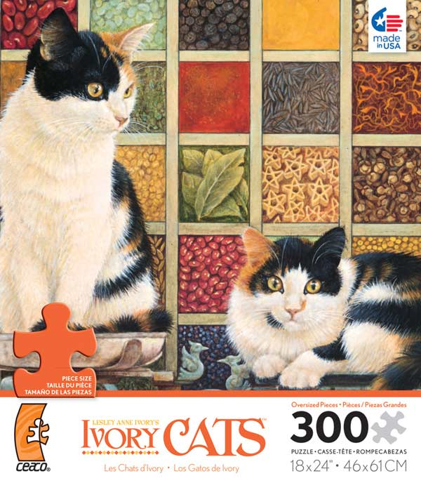 Ivory Cats - Libra, Clea and Lily Cats Jigsaw Puzzle