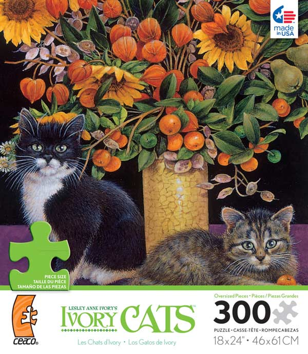 Ivory Cats - Posky and Christie Cats Jigsaw Puzzle
