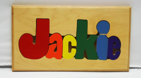 Jackie Wooden Name Puzzle