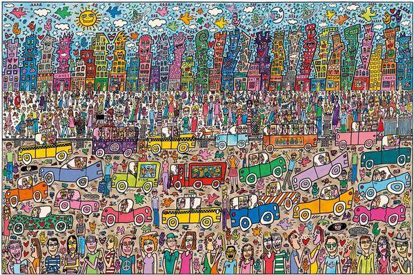 James Rizzi: City Cartoons Jigsaw Puzzle