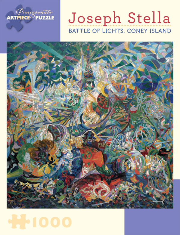 Battle of Lights, Coney Island Abstract Jigsaw Puzzle
