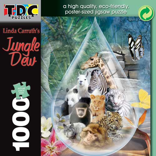 Jungle Dew Jungle Animals Jigsaw Puzzle