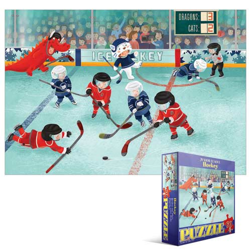 Junior League Hockey Cartoons Jigsaw Puzzle
