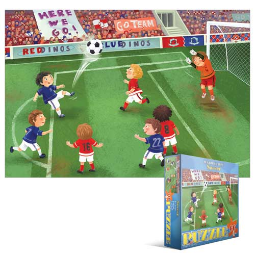 Junior League Soccer Cartoons Jigsaw Puzzle