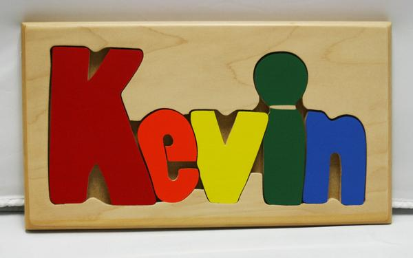 Kevin Wooden Name Puzzle