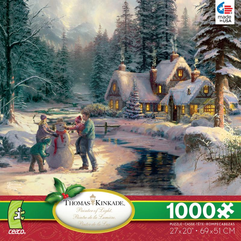 Thomas Kinkade - Holiday at Winter's Glen Christmas Jigsaw Puzzle