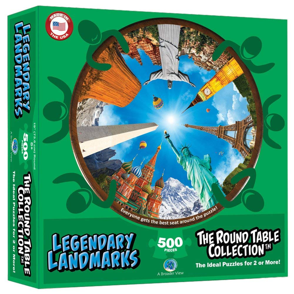 Legendary Landmarks (Round Table Puzzle) Jungle Animals Jigsaw Puzzle