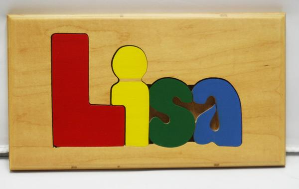 Lisa Wooden Name Puzzle