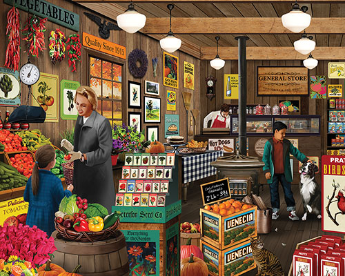 Local Market Fall Jigsaw Puzzle
