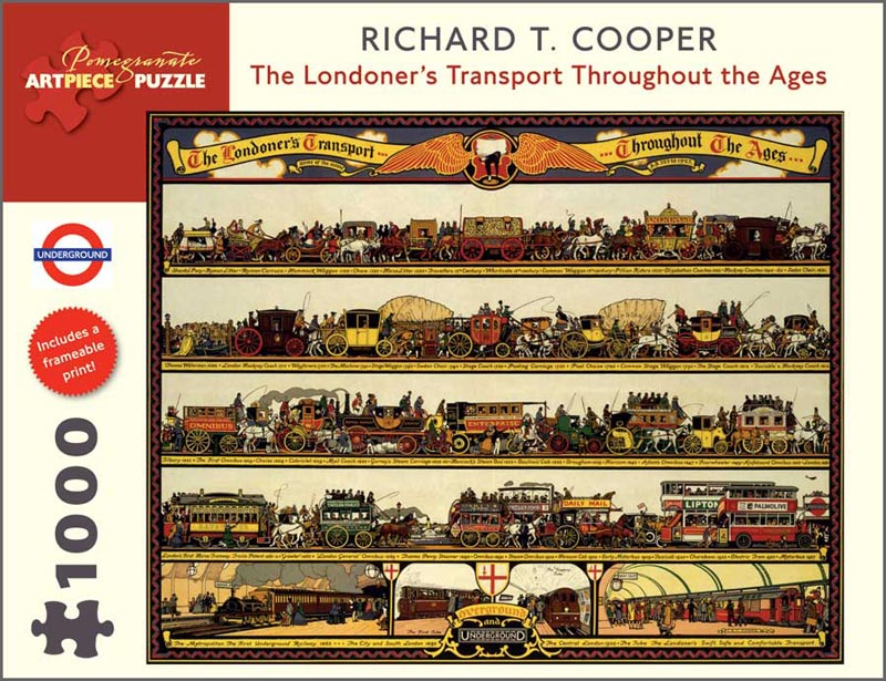 The Londoner's Transport Throughout the Ages Contemporary & Modern Art Jigsaw Puzzle