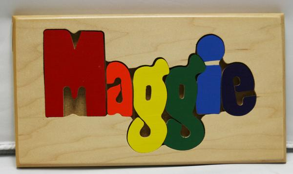 Maggie Wooden Name Puzzle