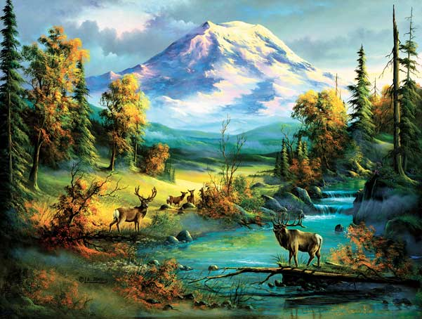 Majestic View Mountains Jigsaw Puzzle