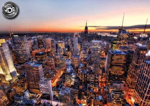 Manhattan Sunset Cities Jigsaw Puzzle