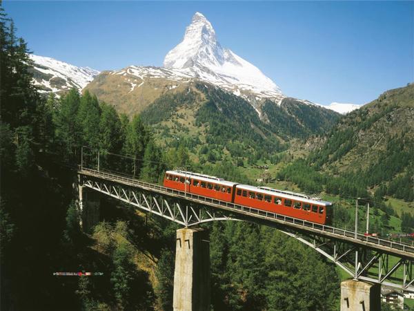 Matterhorn Train Mountains Jigsaw Puzzle