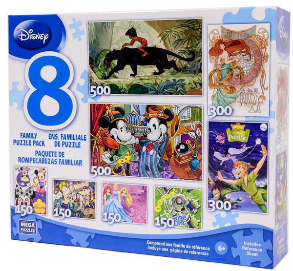 Disney Collection - 8 Puzzles Disney Collectible Packaging