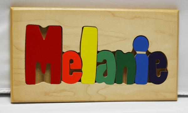 Melanie Wooden Name Puzzle