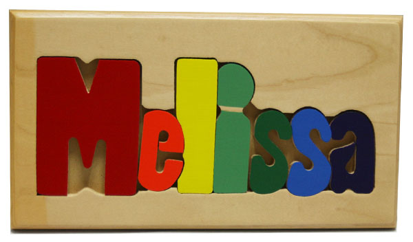 Melissa Wooden Name Puzzle