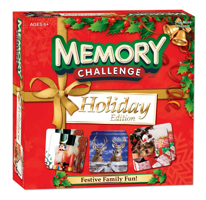 Memory Challenge - Holiday Edition Family Games Card Game