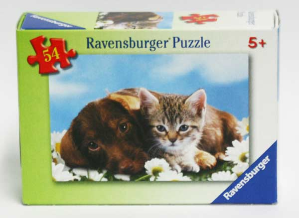 Mini Puzzle Baby Animals Puppy and Kitten Cats Children's Puzzles