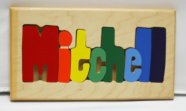 Mitchell Wooden Name Puzzle