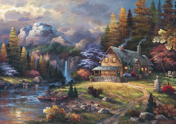 Mountain Hideaway, James Lee Countryside Jigsaw Puzzle