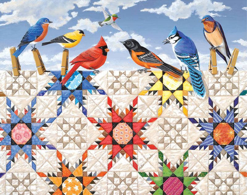 MINI - Feathered Stars Birds Jigsaw Puzzle