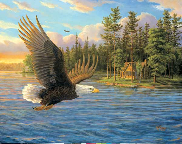 MINI - Summer Domain Eagles Jigsaw Puzzle