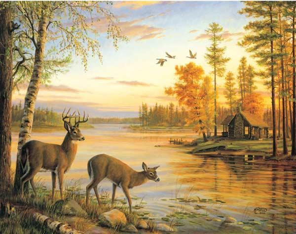 MINI - Quiet Evening Wildlife Jigsaw Puzzle