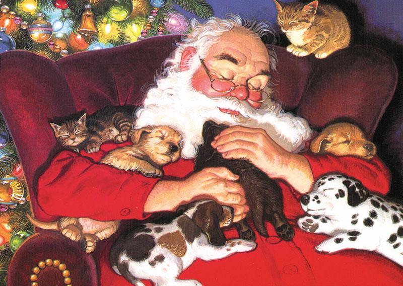 MINI - Winter's Nap Christmas Jigsaw Puzzle