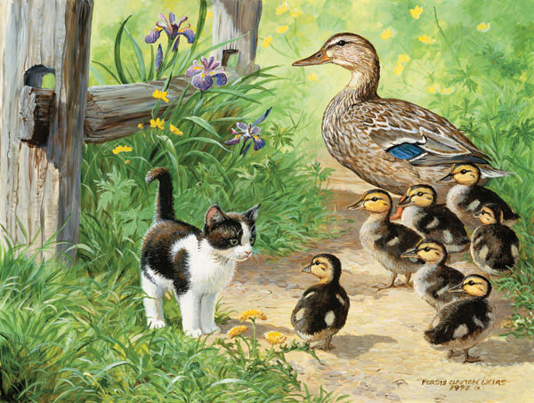 MINI - Duck Inspector Cats Jigsaw Puzzle