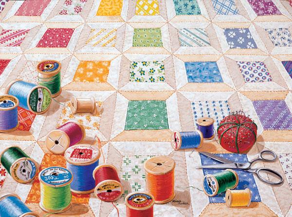 MINI - Spools Quilting & Crafts Jigsaw Puzzle