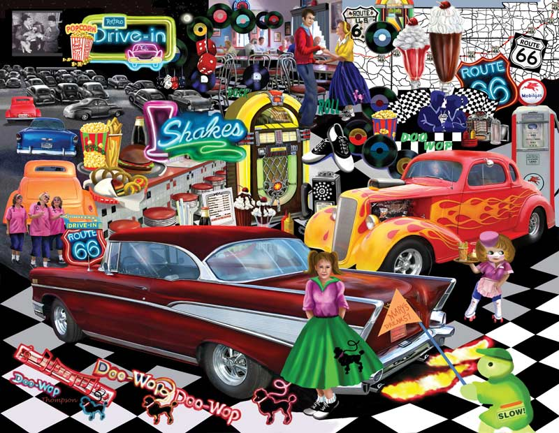 MINI - DooWop Americana Jigsaw Puzzle