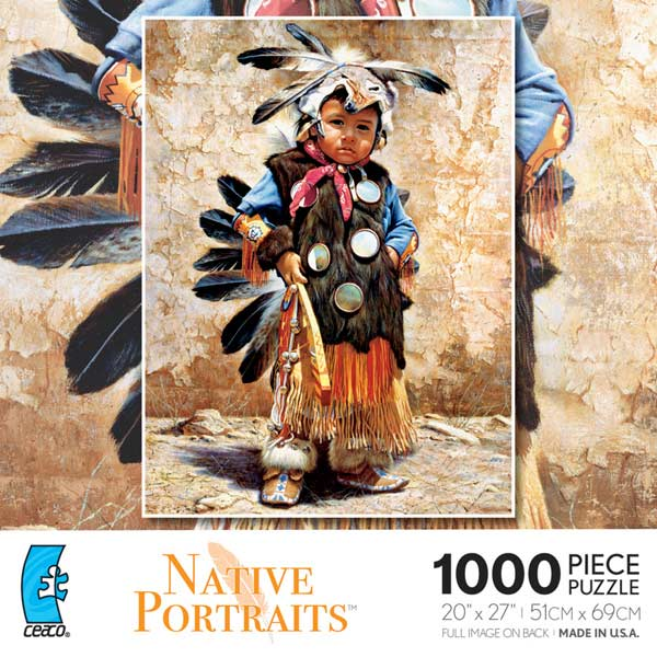 Native Portraits - Preserving Tradition Native American Jigsaw Puzzle