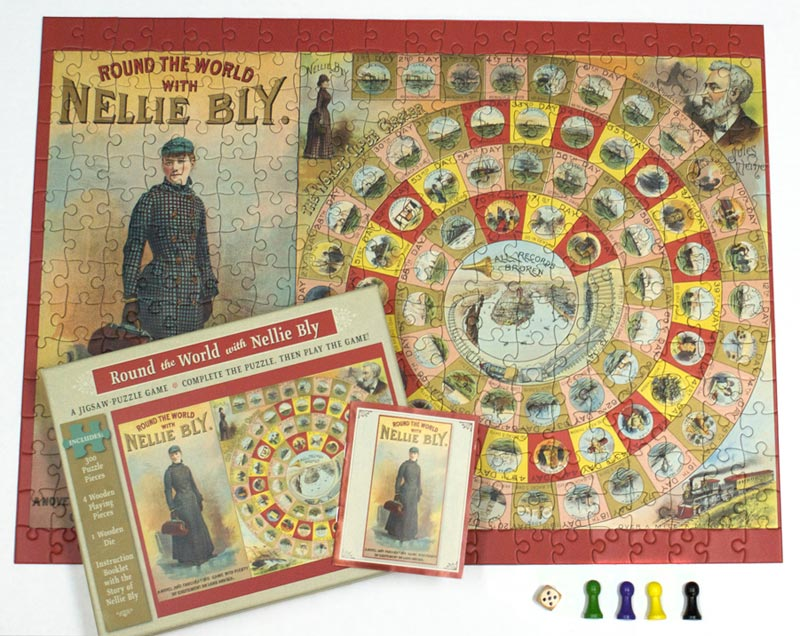 Round the World with Nellie Bly - Puzzle Game Children's Puzzles